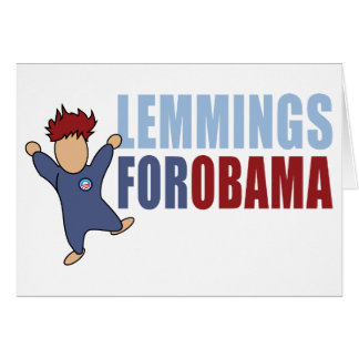 Lemmings for Obama Card