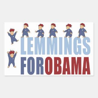 Lemmings for Obama Rectangular Sticker