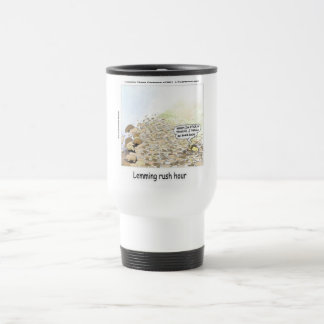 Lemmings Rush Hour Funny Coffee Mugs
