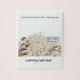 Lemmings Rush Hour Funny Jigsaw Puzzle