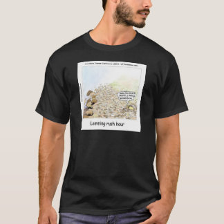 Lemmings Rush Hour Funny T-Shirt