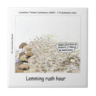 Lemmings Rush Hour Funny Tile