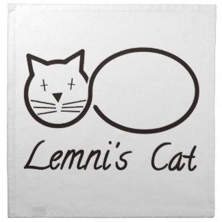lemniscata el gato de lemni servilletas imprimidas
