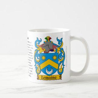 Lemoine, el origen, el significado y el escudo taza básica blanca