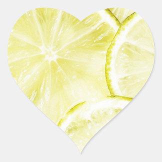Lemon 2 heart sticker