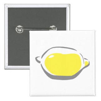 Lemon 2 Inch Square Button