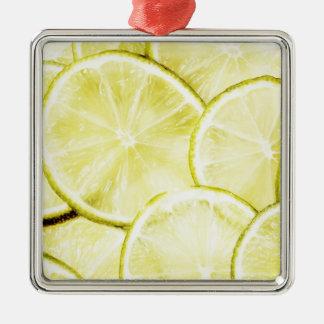 Lemon 2 metal ornament