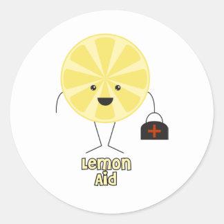 Lemon Aid Round Sticker