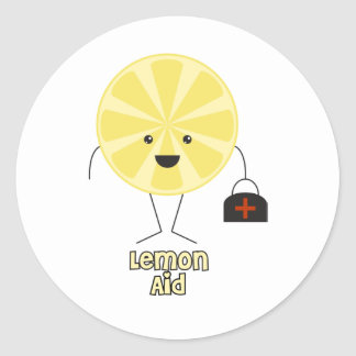 Lemon Aid Classic Round Sticker