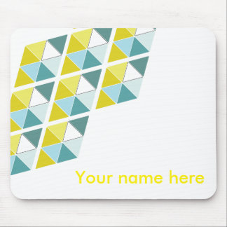 Lemon and Blue Triangle Mousepad