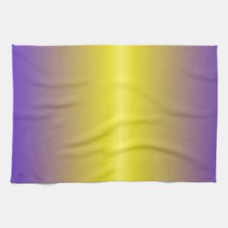 Lemon and Electric Ultramarine Gradient Hand Towels
