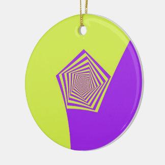Lemon and Lilac Spiral Ornament
