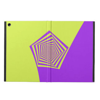 Lemon and Lilac Spiral Pentagon iPad Air Case