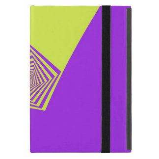Lemon and Lilac Spiral Pentagon iPad Case