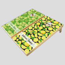 Lemon and Lime Background Cornhole Set