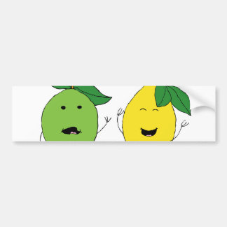 Lemon and Lime Best Friends Bumper Sticker