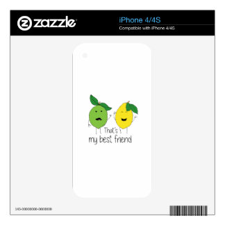 Lemon and Lime Best Friends iPhone 4S Skins