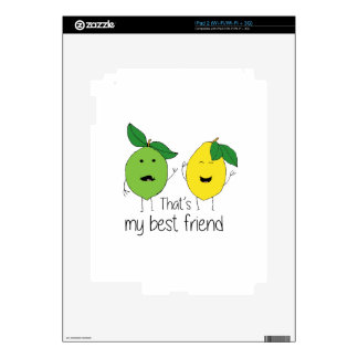 Lemon and Lime Best Friends Skin For The iPad 2