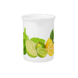 Lemon And Lime Beverage Pitcher at Zazzle