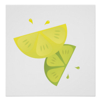 Lemon and Lime Burst Poster