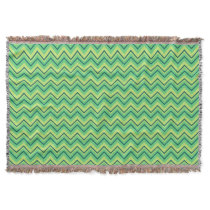 lemon and lime chevron zigzag blanket