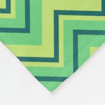 lemon and lime chevron zigzag fleece blanket