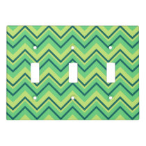 lemon and lime chevron zigzag switch plate