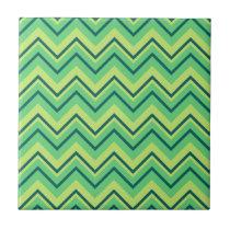 lemon and lime chevron zigzag tile