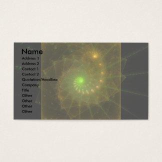 """Lemon and Lime Combine"" Fractal Art Business Card"