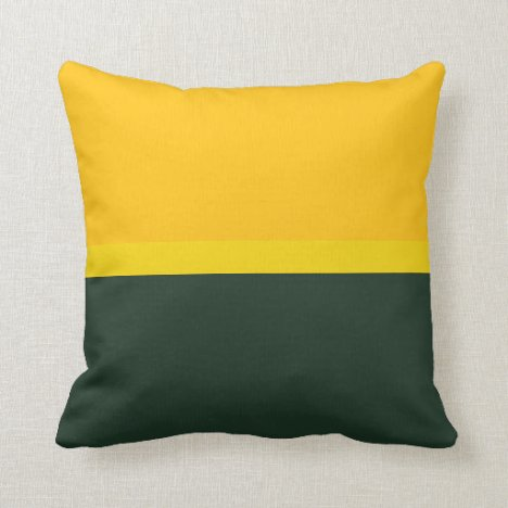 Lemon and Lime Golden Dairy Throw Pillow