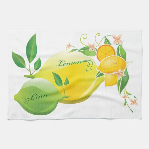 Lemon and Lime Hand Towel