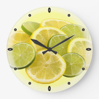 Lemon and Lime Large Clock