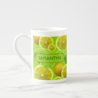 LEMON AND LIME PERSONALIZE TEA CUP