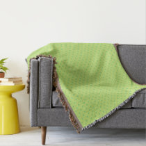 lemon and lime polka dots blanket