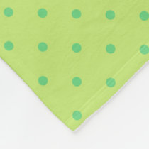 lemon and lime polka dots fleece blanket