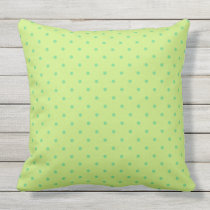 lemon and lime polka dots outdoor pillow