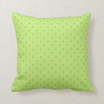 lemon and lime polka dots pillow