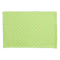 lemon and lime polka dots pillow case