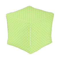 lemon and lime polka dots pouf