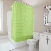 lemon and lime polka dots shower curtain