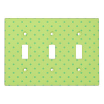 lemon and lime polka dots switch plate