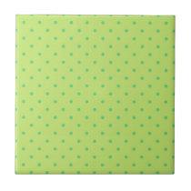 lemon and lime polka dots tile
