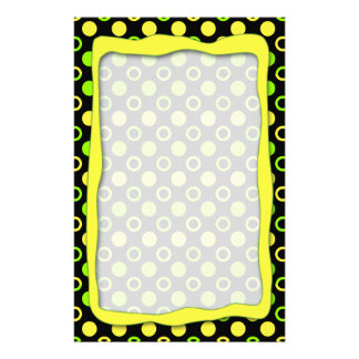 Lemon And Lime Rings And Polka Dots Stationery Design