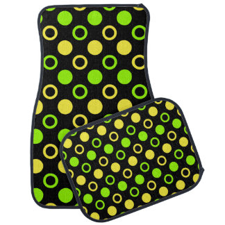 Lemon And Lime Rings And Polka Dots STaylor Car Floor Mat
