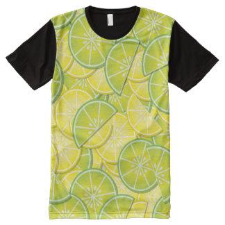 Lemon and Lime Slices All-Over-Print T-Shirt
