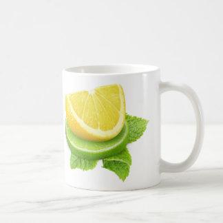 Lemon and lime slices coffee mug