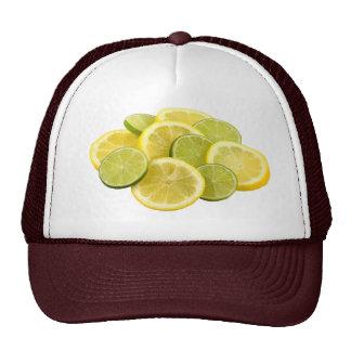 Lemon and Lime Slices Mesh Hats