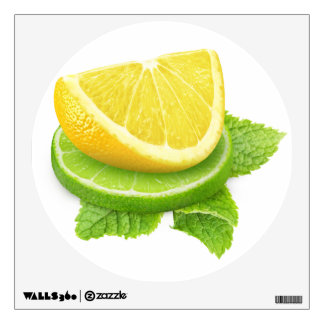 Lemon and lime slices wall sticker