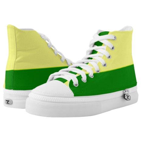 Lemon and Lime Two-Tone Hi-Top