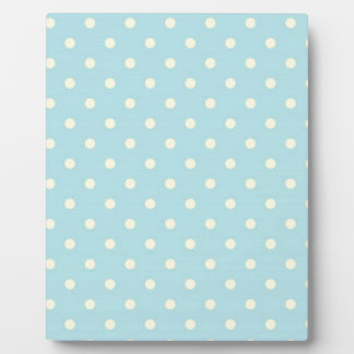 Lemon And Pale Blue Polka Dot Plaque